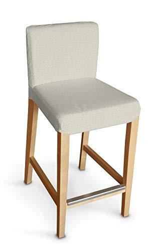 Dekoria Henriksdal Husse für Barhocker Husse Stuhlbezug,Stuhlkissen passend für IKEA Modell Henriksdal hellgrau