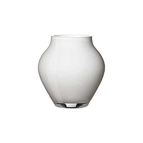 Villeroy & Boch Oronda Mini Vase Arctic Breeze, 12 cm, Glas, Weiß
