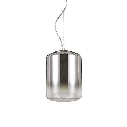 Ideal Lux Ken Pendelleuchte verspiegelter Glaszylinder 30cm Pendellampe Rauchglas
