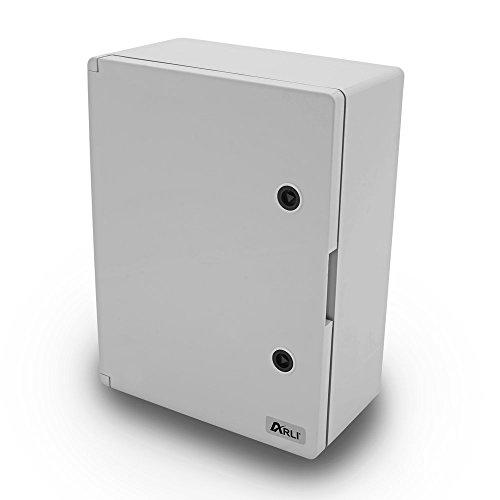 Schaltschrank IP65 Industriegehäuse 300 x 400 x 170 mm verzinkter Montageplatte Verriegelung Tür mit umlaufender Dichtung Gehäuse Leergehäuse ABS Kunststoff leer Schrank ARLI 30 x 40 x 17 cm