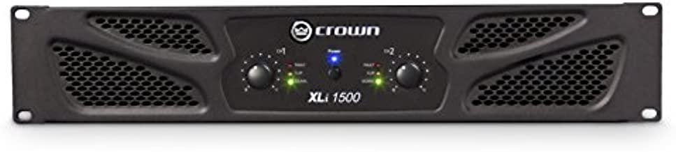Crown XLi1500 Two-channel, 450W at 4Ω Power Amplifier