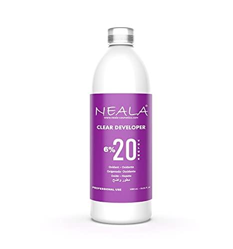 NEALA oxidante 20 vol 6% enriquecida y perfumada - Crema oxigenada emulsión activadora de tinte para el cabello, 1 litro