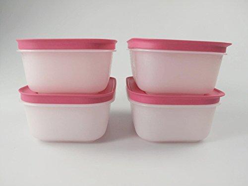 TUPPERWARE Caja de Congelación de 450 ml blanco rosa (4) 11282