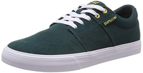 Supra Unisex-Erwachsene Stacks Vulc II Sneaker, Grün (Evergreen-White 320), 42 EU