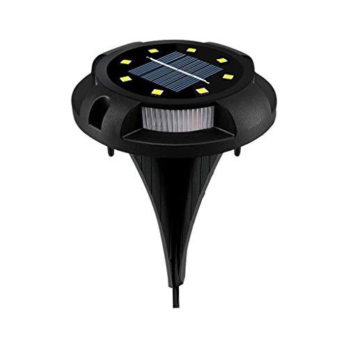 Luces solares LED redondas, para césped, energía solar, lámpara de tierra, lámpara de jardín, luces enterradas, para exteriores, sin enchufe, se recarga automáticamente, extraíble