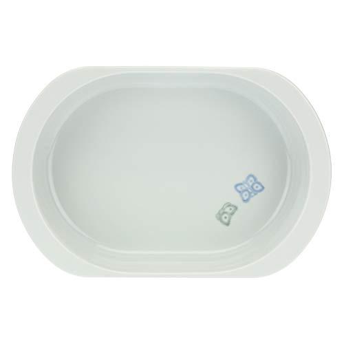 THUN - Bandeja ovalada apta para horno y microondas - Cocina, para la mesa - Ideas regalo mujer - Línea Color Your Easter - Porcelana - Formato pequeño - 24 x 15 x 6,5 h cm