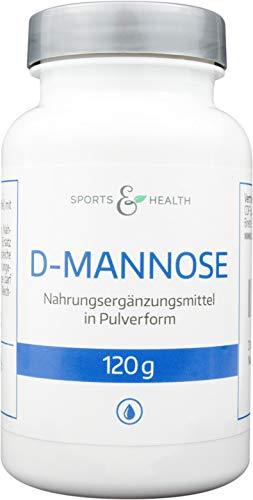 D-Mannose Pulver In Einer Vorteilspackung Mit 120g Als 2 Monatspackung - Alle Inhalte Sind Vegan Und Natürlich