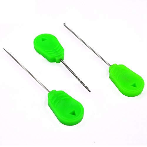 Cuasting 1 Unidades al por mayor cebo aguja herramienta conjunto carpa pesca Stringer aguja aparejo cebo aguja aguja kit herramienta (Hook+Stringer+Taladro)