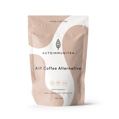 AIP Diet Coffee Substitute Blend for Autoimmune Protocol foods with Chicory Root, Dandelion and Carob - Organic Caffeine Free Dandy Tea and Coffee Herbal Alternative Solution