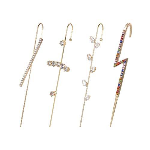 Pendientes de gancho para orugas, pendientes para mujer y niñas, pendientes de escalada de oreja, pendientes de cartílago, regalo único de joyería
