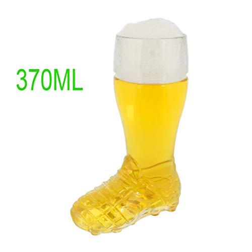 Bierglas Fußball, Glas Bierstiefel Hochwertige Qualität Bierkrug Borosilikatglas Geschenkidee Für Bierliebhaber, Geburtstagsgeschenk Und Oktoberfest