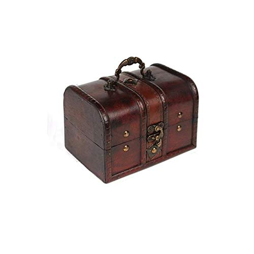 Gather together 1pcs Chic Wooden Pirate Jewellery Storage Box Case Holder Vintage Treasure Chest for Organizer Wooden Jewe