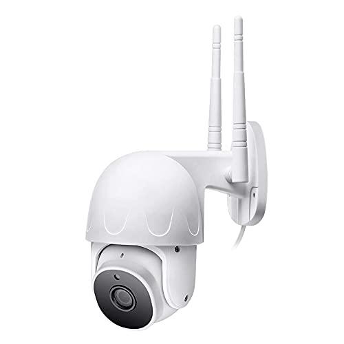 Cámara IP WiFi, Cámara De Seguridad Para Exteriores, Cámara De Video De Seguridad PTZ Con Domo De Velocidad De Seguimiento Automático, Vigilancia CCTV De Visión Nocturna 1080P(Size:Camera + 128g Card)