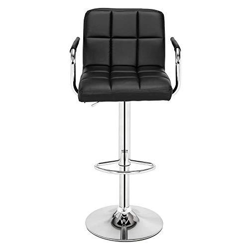 Silla de oficina creativa 2 piezas 60-80 cm sillas redondas hechas de cuadrado negro con 6 compartimentos y reposabrazos Barhockera