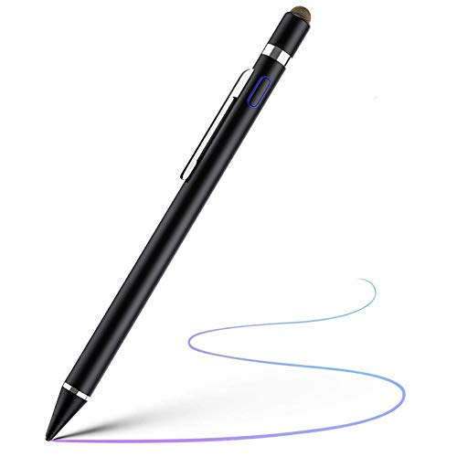 Hengqiyuan Stylus Pen for All Touchscreens, Stylus Pen Is Rechargeable And Has A Fine Tip of 1.45 Mm He Is Compatible with Apple Ipad, Iphone And Samsung Tablets,Black