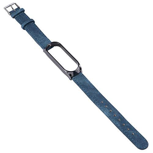 UKCOCO Correa de Reloj Compatible para Xiaomi 5/ 5 NFC-Correa de Repuesto de Cuero Reloj Inteligente de Liberación Rápida Correa de Reloj de Pulsera Correa de Reloj Elegante