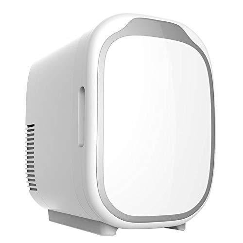 RSTJ-Sjef Mini Refrigerador Y Calentador Eléctrico De Nevera De 6 litros, Sistema Termoeléctrico Silencioso Portátil AC/DC, Adecuado para La Familia, El Automóvil, El Refrigerador para Acampar