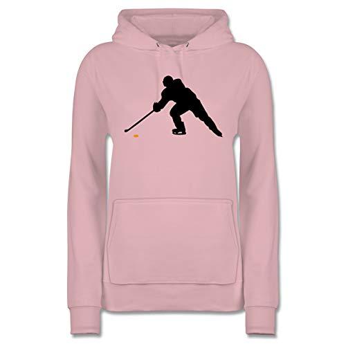 Eishockey - Hockey Player - M - Hellrosa - JH001F - Damen Hoodie und Kapuzenpullover für Frauen