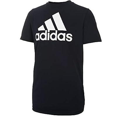 adidas Boys' Big Stay Dry Moisture-Wicking AEROREADY Short Sleeve T-Shirt, Black, X-Large by adidas