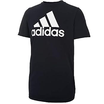 adidas Boys  Big Short Sleeve AEROREADY Performance Logo Tee T-Shirt Black Large