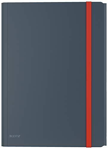 Leitz A4 Eckspannermappe mit Innentasche, Für 150 Blatt, Samtgrau, Cosy-Serie, 46190089