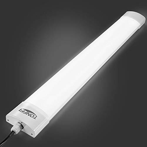 TONFFI LED Feuchtraumleuchte 150CM Kaltweiß Slim, LED Lampe Werkstattlampe IP65 für Garage Keller Büro 42W 5000K