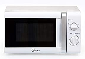 Midea 20 Liters Solo Microwave, White - MM720CTB, 1 Year Warranty
