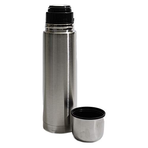 Botella de agua aislada al vacío de acero inoxidable, doble pared termo a prueba de fugas, libre de BPA, 30 cm/750 ml para niños, gimnasio, deportes, oficina de viaje (plata, 750 ml)