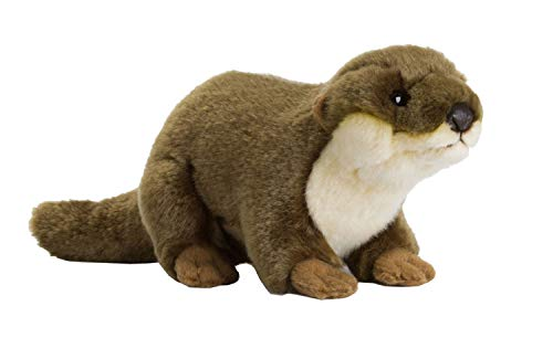 WWF WWF00339 15169004 Plüsch Fischotter, realistisch gestaltetes Plüschtier, ca. 20 cm groß und wunderbar weich, braun
