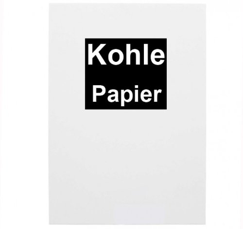 10x Kohlepapier A4 schwarzes Durchschreibepapier