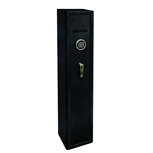Stack-On SHD-SU-BG-E Stand Up Home Defense Safe with Electronic Lock, Black Granite, 12 x 11 x 55 inches