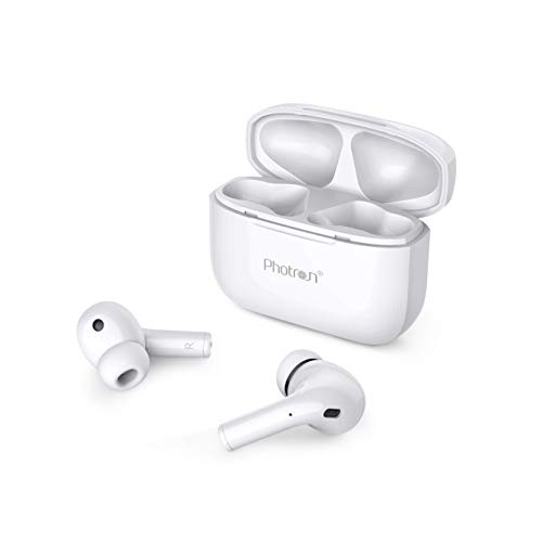 Photron AirBeast 200 Truly Wireless Bluetooth in Ear Earbuds with Mic (White)