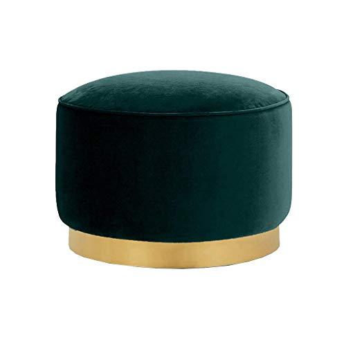 QSHG Muebles de jardín Osmanen, estilo europeo, reposapiés, taburete de maquillaje, habitación, sofá, cocina, diferentes condiciones, reposapiés de repuesto, regalo (tamaño: verde)