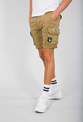 Alpha Industries Crew Patch Shorts Sand 33