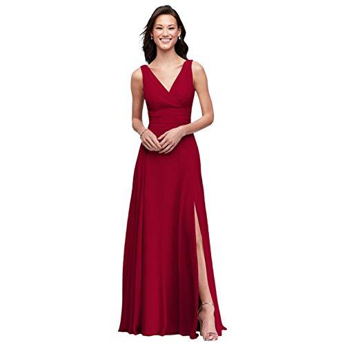 Surplice Tank Long Chiffon Bridesmaid Dress Style F19831, Apple, 0
