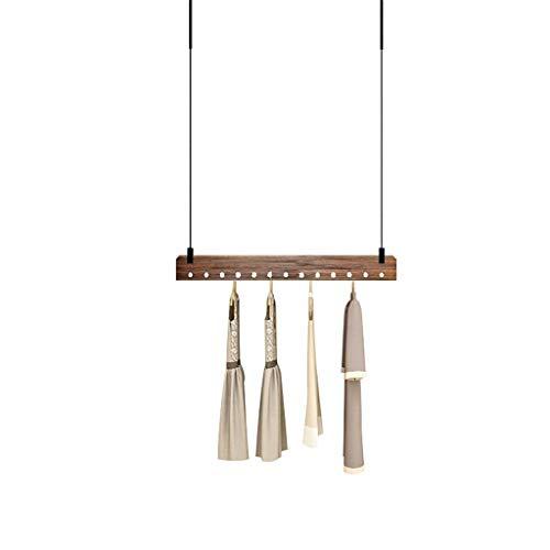 CHUTD Kleding Winkel Display Stand Opknoping Retro Effen Houten Plank Plafond Hanger voor Slaapkamer Woonkamer (Maat: 100CM)
