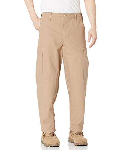 Tru-Spec - Pantaloni da Uomo Rip Stop BDU, Taglia L, Colore: Cachi