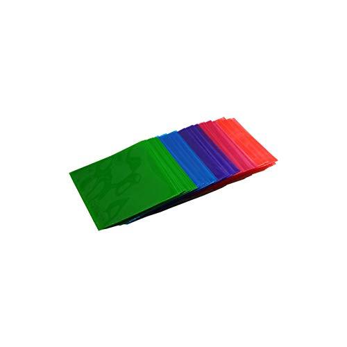 50 QUVIDO CD/DVD/Blu-Ray PP Schutzhüllen Color-Mix