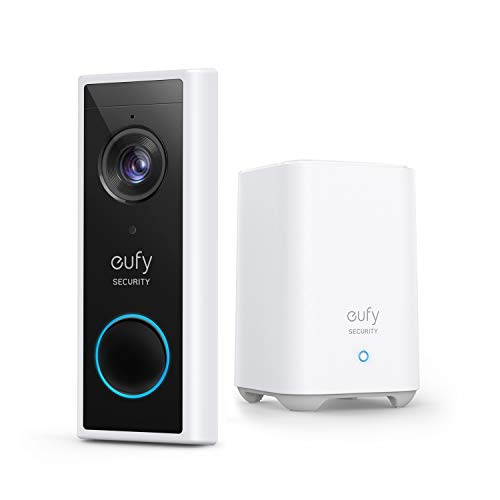 eufy Security, Wireless Video Doorbell (Battery-Powered) with 2K HD $163.99 (25% Off)