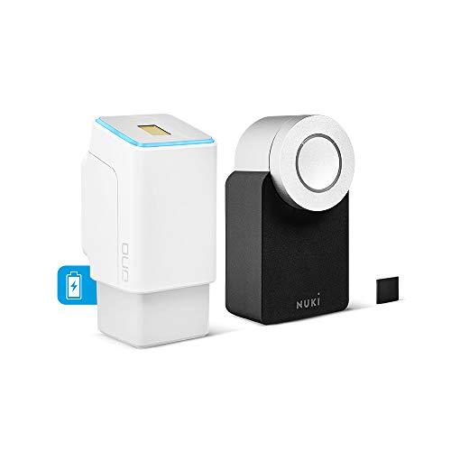 ekey uno Fingerprint mit Akku und Funk inkl. Nuki Smart Lock 2.0 - Akkubetriebenes Nachrüst-Set für alle gängigen Türen