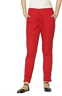 Srishti By Fbb Ankle Length Cigarette Pants Red