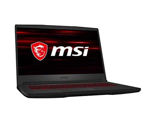 "MSI GF65 Thin 9SEXR-236XES - Ordenador portátil 15.6"" FullHD 120Hz (Intel Core i7-9750H, 16 GB RAM, 512GB SSD, Nvidia RTX2060-6 GB, sin Sistema operativo) negro - Teclado QWERTY español"
