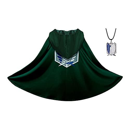 Anime Cosplay Cloak Eren Yeager Cloak Cosplay Costume Green