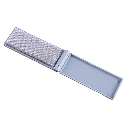 Kissherely Mini Reisekleidung Staubpinsel Faltbare Kleidung Stick Pet Haarentferner Anti Statische Kleidung Fusselbürste (Grau)
