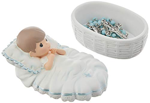 Product Image 2: Precious Moments, Baptized In His Name Resin Box With Rosary, For Boy, 153407,Boy Rosary