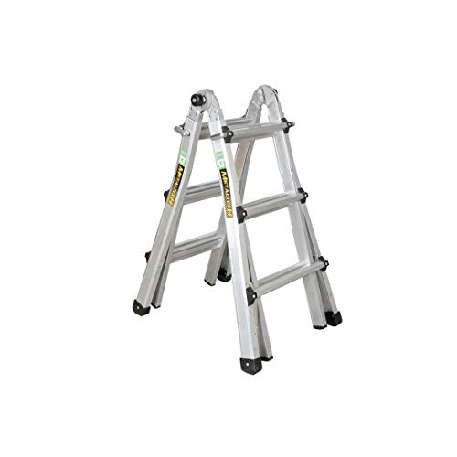 Metaltech 13 ft. Multi-Position Aluminum Ladder with 300 pounds Load Capacity Type IA Duty Rating