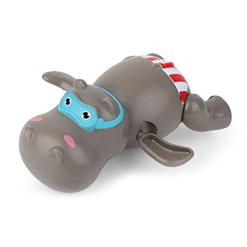 Whiie891203 Juguetes De Baño, Juguete De Baño para Bebés, Bebé Lindo Hipopótamo Pato Oso Viento Mecánico Baño Agua Juego Juego Juguete De Baño Color Aleatorio Hipopótamo ^