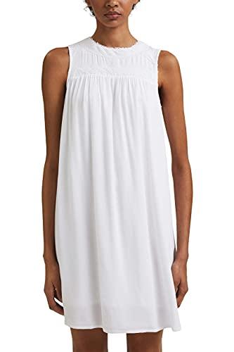 edc by Esprit 051CC1E308 Vestido, 100/White, 42 Regular para Mujer
