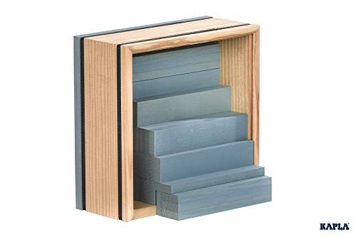 Kapla 9000155 Holzplättchen 40-teilig in Box hellblau, andere