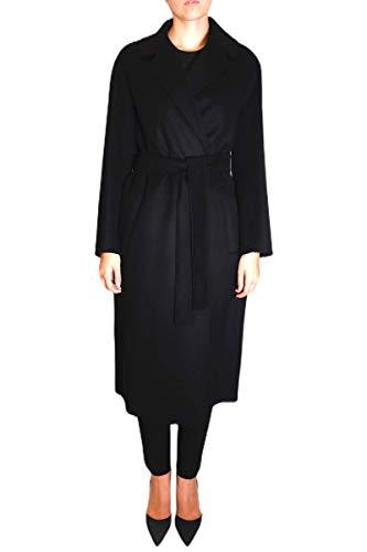 S MAX MARA - Abrigo doble de lana modelo Lugano Negro 40